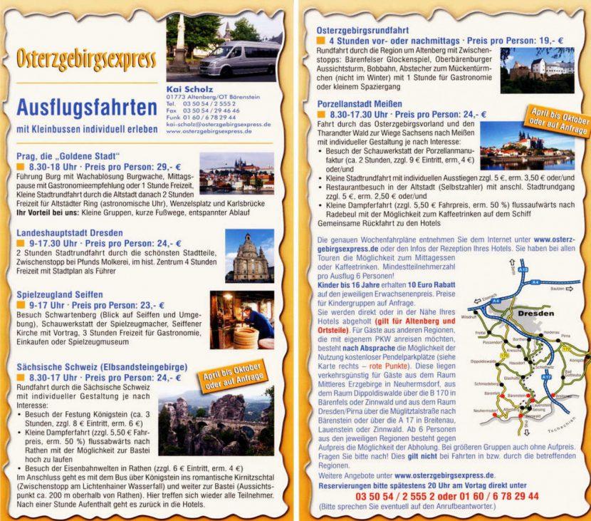 Ausflugsfahrten im Osterzgebirge