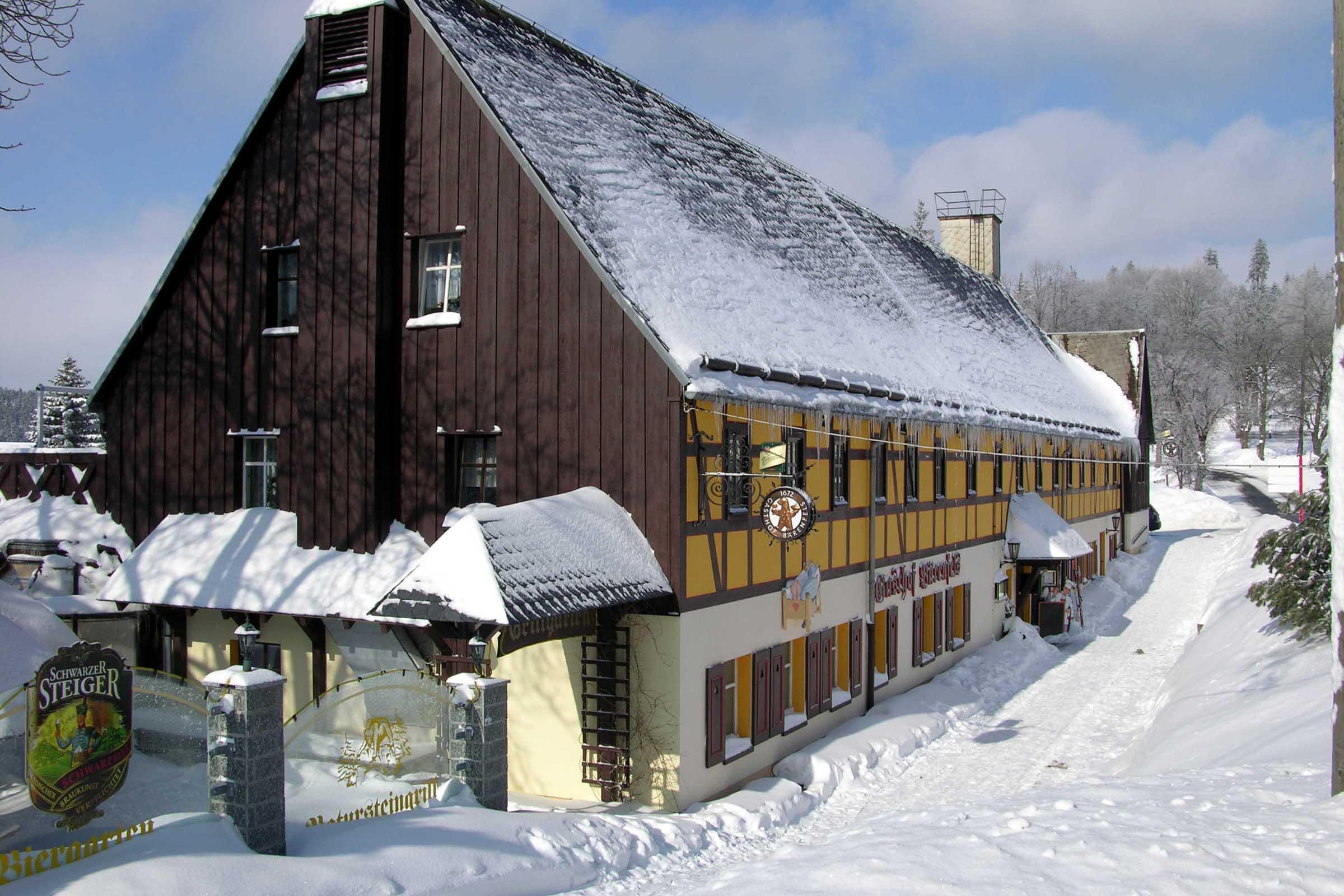 Gasthof Bärenfels im Winter