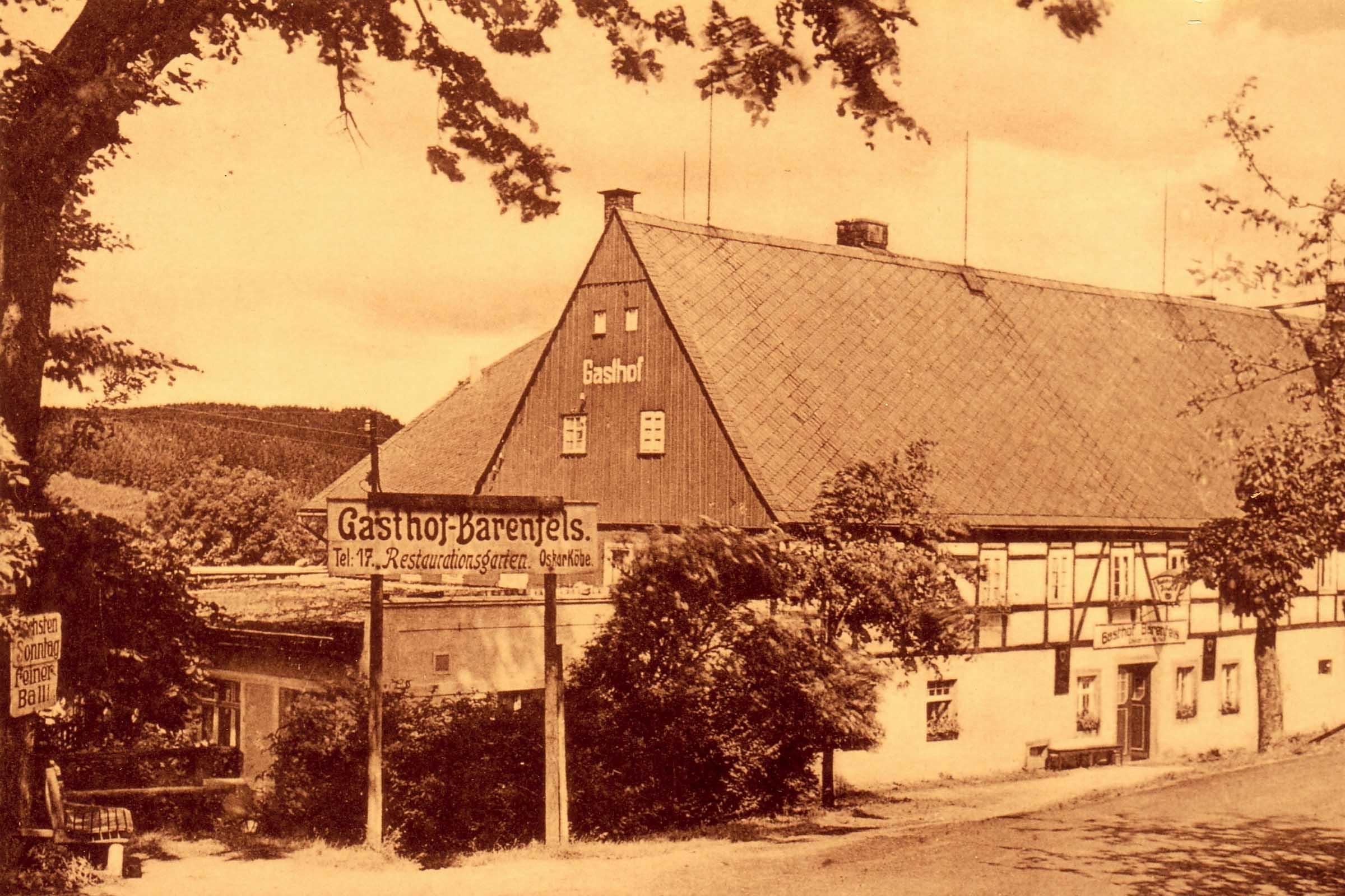 Gasthof um 1900