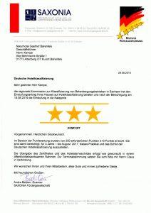 3 Sterne - Deutsche Hotelklassifizierung