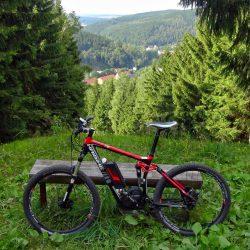Mountainbiken im Erzgebirge