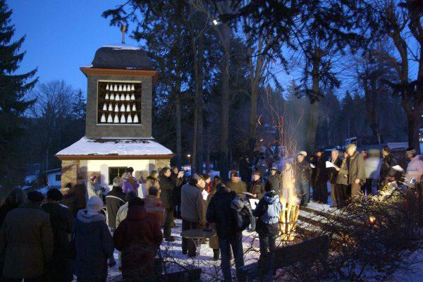 Weihnachtssingen am Glockenspiel